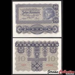AUTRICHE / Oesterreichische Geschäftsführung - Billet de 10 Couronne autrichienne - 1922 P75a