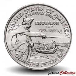 ETATS UNIS / USA - PIECE de 25 Cents (Quarter States) - La traversée du Delaware - D - 2021 Km#NEW
