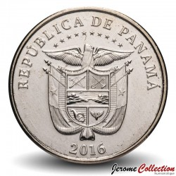 PANAMA - PIECE de 1/4 de BALBOA - 100ème anniversaire du canal de Panama - Colorisée - 2014