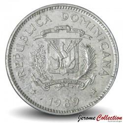 REPUBLIQUE DOMINICAINE - PIECE de 5 centavos - Djembé - 1989