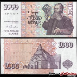 ISLANDE - Billet de 1000 Kronur - Mgr Byrnijólfur Sveinsson - 2009 P59a9