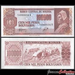 BOLIVIE - Billet de 100000 Pesos Bolivianos - Simon Bolivar - 1984 P171a2