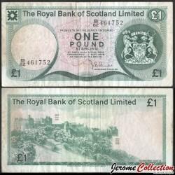 ECOSSE / The Royal Bank of Scotland - Billet de 1 Pound Sterling - Château d'Édimbourg - 1975 P336a4