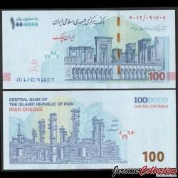 IRAN - Billet de 1000000 Rials - IRAN CHEQUE - Persépolis - 2021 P904a