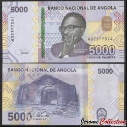 ANGOLA - Billet de 5000 Escudos - Ruines de l'ancienne cathédrale de Kulumbimbi - 2020 P164a
