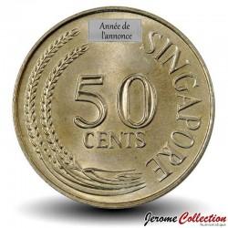SINGAPOUR - PIECE de 50 Cents - Rascasse volante - 1968