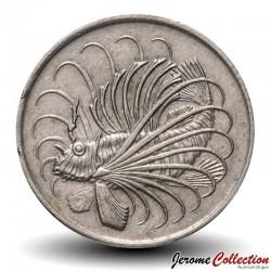 SINGAPOUR - PIECE de 50 Cents - Rascasse volante - 1971 Km#5