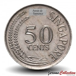 SINGAPOUR - PIECE de 50 Cents - Rascasse volante - 1971