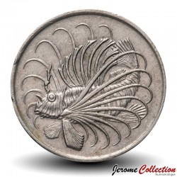 SINGAPOUR - PIECE de 50 Cents - Rascasse volante - 1967 Km#5