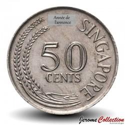 SINGAPOUR - PIECE de 50 Cents - Rascasse volante - 1967