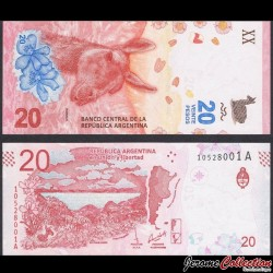 ARGENTINE - Billet de 20 Pesos - 2017