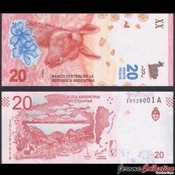 ARGENTINE - Billet de 20 Pesos - Guanaco - 2017