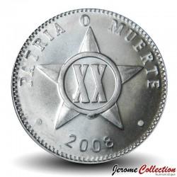 CUBA - PIECE de 20 CENTAVOS - 2008 Km#35