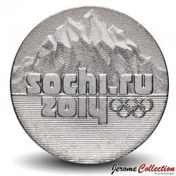 RUSSIE - PIECE de 25 ROUBLES - JO de Sochi 2014 - 2014 Y#1298