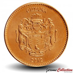GUYANA - PIECE de 5 Dollars - Canne à sucre - 2012