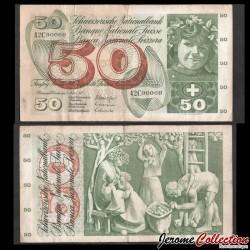 SUISSE - Billet de 50 Francs - Récolte de pommes - 07.03.1973 P48m1