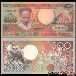SURINAME - Billet de 500 Gulden - Toucan - 1988 P135b