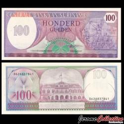 SURINAME - Billet de 100 Gulden - Monument de la Révolte - 1985 P128b