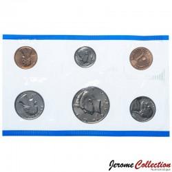 ETATS UNIS / USA - SET / LOT de 6 PIECES de 1 5 10 Cents ¼ ½ DOLLAR - 1991 - P