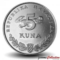 CROATIE - PIECE de 5 Kuna - Ours brun - 2009