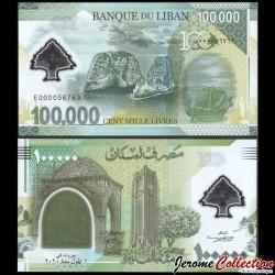 LIBAN - Billet de 100000 Livres - 100 ans du Grand Liban - Polymer - 2020 P99a