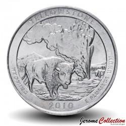ETATS UNIS / USA - PIECE de 25 Cents - America the Beautiful - Yellowstone National Park - Wyoming - 2010 - P Km#470
