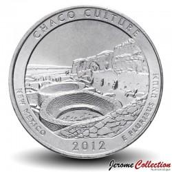 ETATS UNIS / USA - PIECE de 25 Cents - America the Beautiful - Chaco Culture - Nouveau-Mexique - 2012 - P Km#520