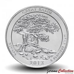 ETATS UNIS / USA - PIECE de 25 Cents - America the Beautiful - Great Basin - Nevada - 2013 - P Km#544