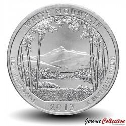 ETATS UNIS / USA - PIECE de 25 Cents - America the Beautiful - White Mountain - New Hampshire - 2013 - P Km#542