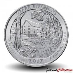 ETATS UNIS / USA - PIECE de 25 Cents - America the Beautiful - Ozark National Scenic Riverways - Missouri - 2017 - P Km#655