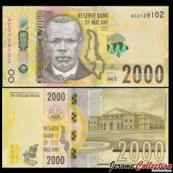 MALAWI - Billet de 2000 Kwacha - 2016