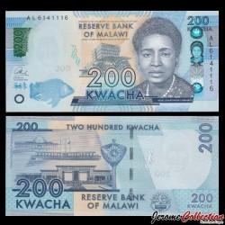 MALAWI - Billet de 200 Kwacha - 2016