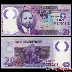 MOZAMBIQUE - Billet de 20 Meticais - Polymer - 2017