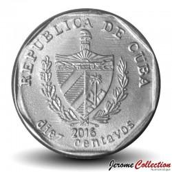 CUBA - PIECE de 10 CENTAVOS - Le Castillo de la Real Fuerza - 2016