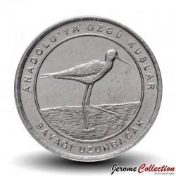 TURQUIE - PIECE de 1 Kuruş - Oiseaux d'Anatolie - Échasse blanche - 2020 Km#new