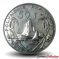 TAHITI / POLYNÉSIE FRANÇAISE - PIECE de 50 Francs - Port de Moorea - 2003 Km#13