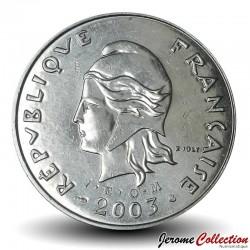 TAHITI / POLYNÉSIE FRANÇAISE - PIECE de 50 Francs - Port de Moorea - 2003