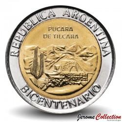 ARGENTINE - PIECE de 1 Peso - Bimétal - Pucara de Tilcara - 2010 Km#159