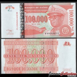 ZAIRE - Billet de 100000 Nouveaux Zaïres - GD - 30.6.1996 P76a
