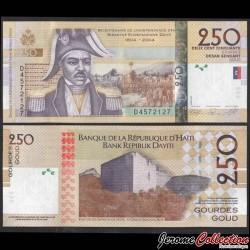 HAITI - Billet de 250 Gourdes - Jean-Jacques Dessalines - 2010 P276d