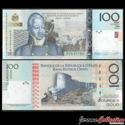 HAITI - Billet de 100 Gourdes - Henri Christophe - 2010 P275c