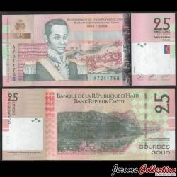 HAITI - Billet de 25 Gourdes - Général Nicolas Geffrard - 2004 P273a