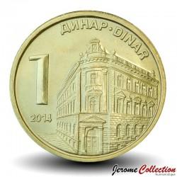 SERBIE - PIECE de 1 Dinar - Banque Nationale de Serbie - 2014 Km#54