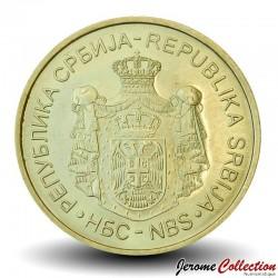 SERBIE - PIECE de 1 Dinar - Banque Nationale de Serbie - 2014