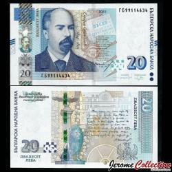 BULGARIE - Billet de 20 Leva - Stefan Stambolov - 2020 P118c
