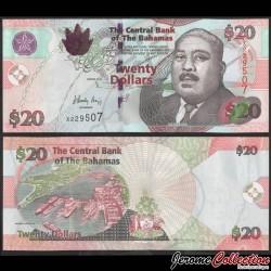 BAHAMAS - Billet de 20 Dollars - Tour du port de Nassau - 2010 P74Aa
