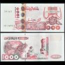 ALGERIE - Billet de 1000 Dinars - Gravures rupestres de tassili - 10.06.1998