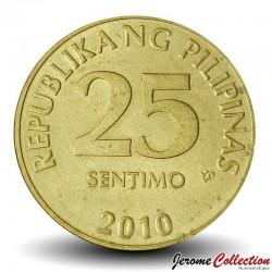PHILIPPINES - PIECE de 25 Sentimo - Sceau de la banque centrale des Philippines - 2010 Km#271a