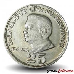 PHILIPPINES - PIECE de 25 Sentimos - Peintre Juan Luna - 1972 Km#199