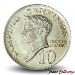 PHILIPPINES - PIECE de 10 Sentimos - Francisco Blatasar - 1967 Km#198